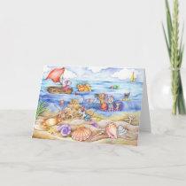 Mice on the Beach Summer Card
