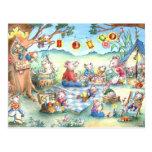Mice Picknick Postcard