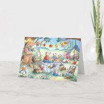 Mice Picnic Camping - Birthday Greeting Card