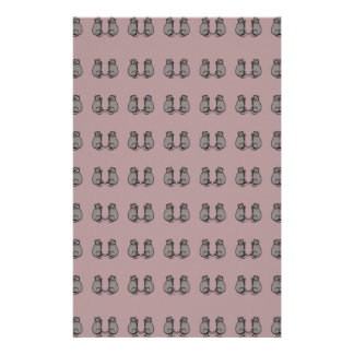 Mice! pink pat. stationery