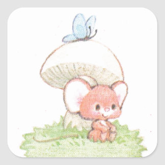 Mice Summertime Daydreaming Square Sticker