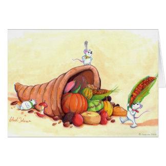 Mice Thanksgiving card