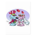 Mice wedding couple postcard