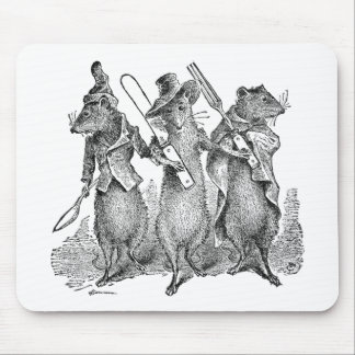 Mice with Silverware Mouse Pad