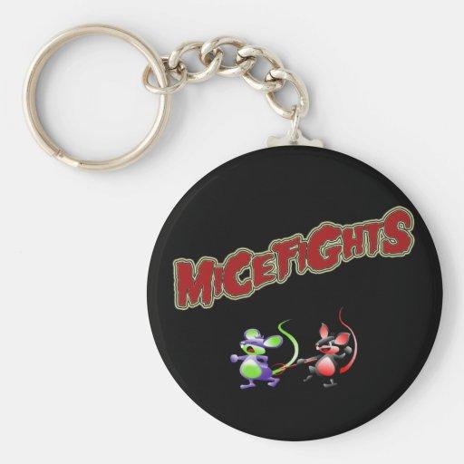 Micefights Basic Round Button Keychain