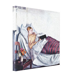 Michael Ancher - The Sick Girl (Den syge pige) Canvas Print