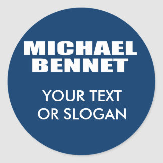 MICHAEL BENNET FOR SENATE ROUND STICKERS