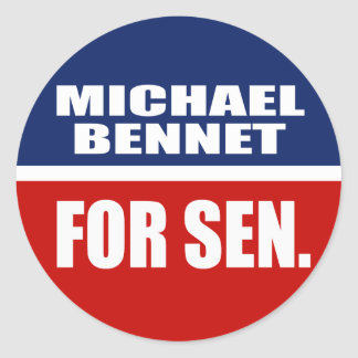 MICHAEL BENNET FOR SENATE STICKERS