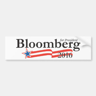 Michael Bloomberg para el presidente 2016 Etiqueta De Parachoque