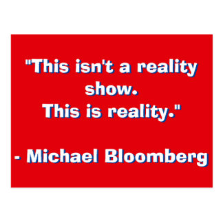 Michael Bloomberg Quote Postcard