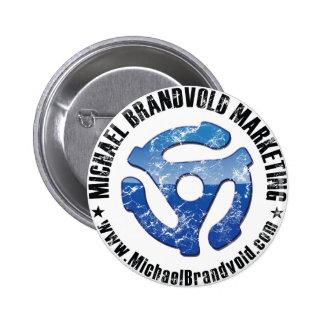 Michael Brandvold Marketing Distressed Logo 2 Inch Round Button