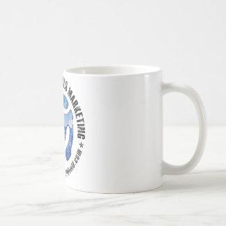 Michael Brandvold Marketing Distressed Logo Classic White Coffee Mug