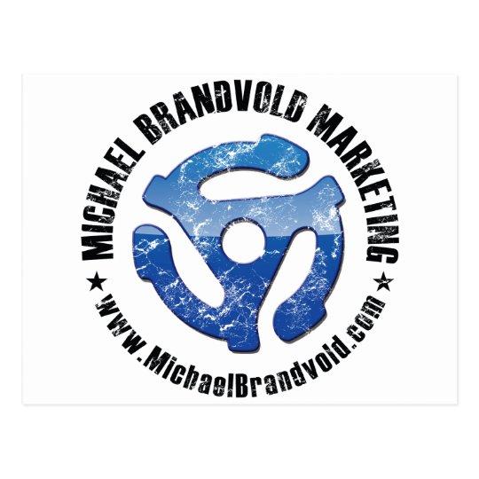 Michael Brandvold Marketing Distressed Logo Postcard
