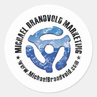 Michael Brandvold Marketing Distressed Logo Round Stickers
