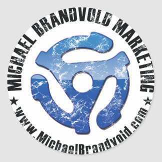 Michael Brandvold Marketing Distressed Logo Classic Round Sticker