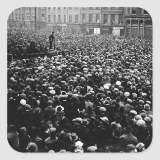 Michael Collins Free State Demonstration 1922 Square Sticker