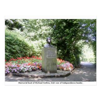 Michael Collins Memorial bust, Dublin Ireland. Post Cards