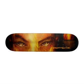 Michael Collins version of Beowolf Cave Woman Skateboard Deck