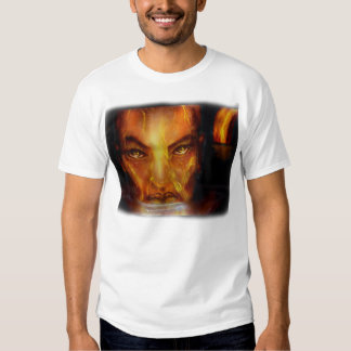Michael Collins version of Beowolf Cave Woman T-Shirt