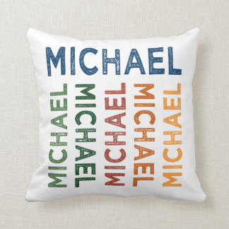 Michael Cute Colorful Throw Pillow