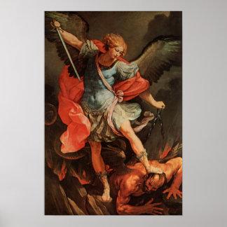 Michael derrota Satan Póster