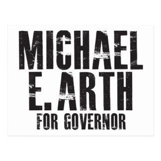 Michael E Arth para el gobernador 2010 Postal