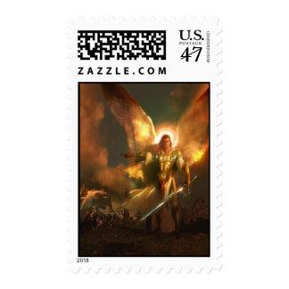 Michael el arcángel sello postal