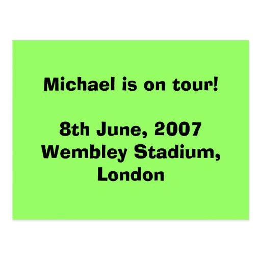 ¡Michael está en viaje! 8 de junio de 2007 Wembley Tarjetas Postales