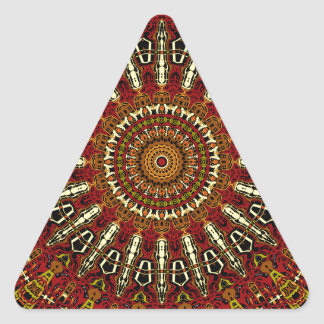 Michael Fall Colors Kaleidoscope No. 1 Triangle Sticker