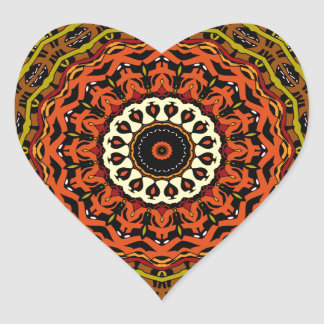 Michael Fall Colors Kaleidoscope No. 3 Heart Sticker