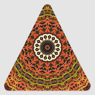 Michael Fall Colors Kaleidoscope No. 3 Triangle Sticker