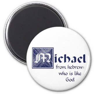 Michael, from Hebrew: who is like God Refrigerator Magnets