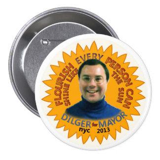 Michael J. Dilger para el alcalde 2013 de NYC Pin Redondo 7 Cm