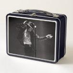 "Michael Jackson | Performing Metal Lunch Box<br><div class=""desc"">Michael Jackson b&amp;w photo by Kevin Mazur. Photography: K. Mazur</div>"