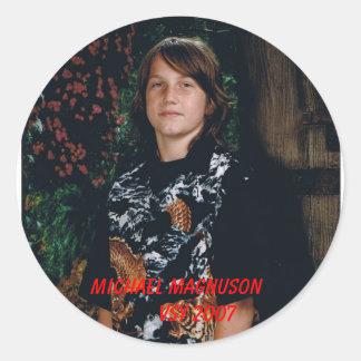 MICHAEL MAGNUSON        VSY 2007 CLASSIC ROUND STICKER