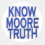 ¡Michael Moore sabe! Partidario del SiCKO Etiqueta Redonda