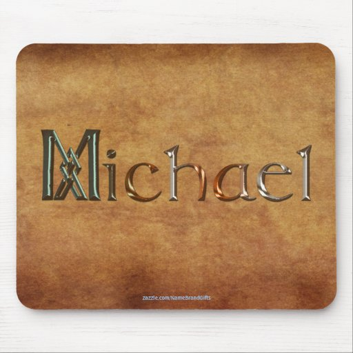 MICHAEL Name-Branded Personalised Gift Mousepad