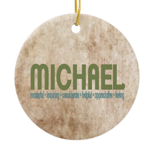 { Michael } Name Meaning Christmas Tree Ornament | Zazzle