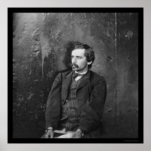 Michael O'Laughlin, conspirador 1865 de Lincoln Póster