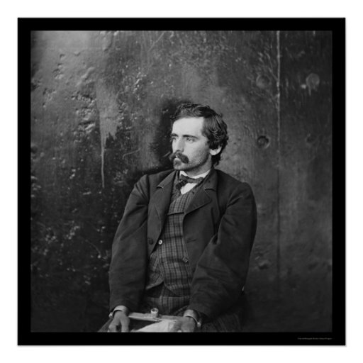 Michael O'Laughlin, Lincoln Conspirator 1865 Poster