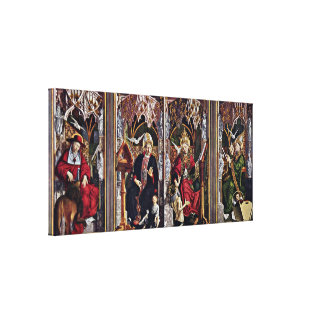 Michael Pacher - Fathers of the Church Altar Canvas Print