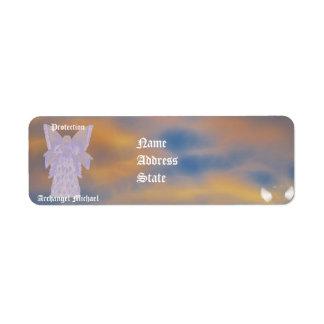 Michael-Personalizar del arcángel de la protección Etiqueta De Remitente