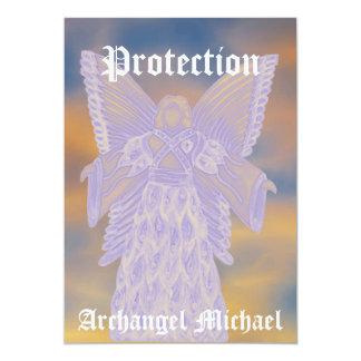 """Michael-Personalizar del arcángel de la protección Invitación 5"""" X 7"""""""