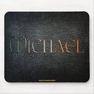 MICHAEL personalizó la Cuero-mirada Mousepad Alfombrilla De Raton