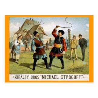 """Michael Strogoff"" Vintage Theater Postcard"