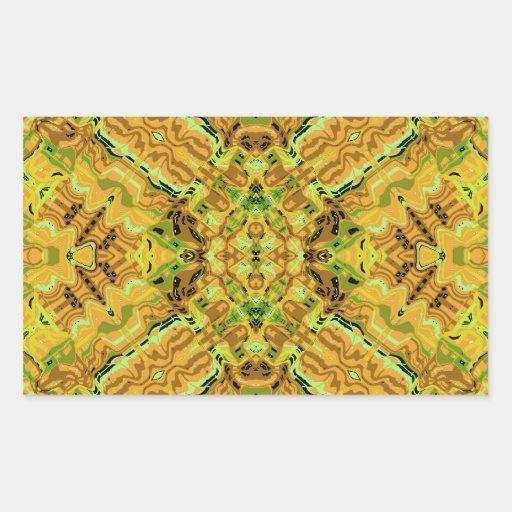 Michael Summer Days Kaleidoscope Rectangle Stickers