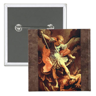 Michael the Archangel 2 Inch Square Button