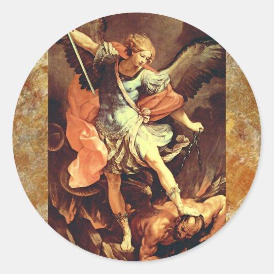 Michael the Archangel Classic Round Sticker