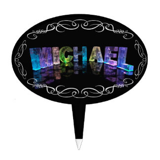Michael  - The Name Michael in 3D Lights (Photogra Cake Topper