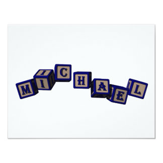 Michael toy blocks in blue card